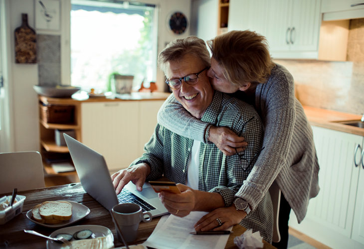 Family working on boosting their credit score